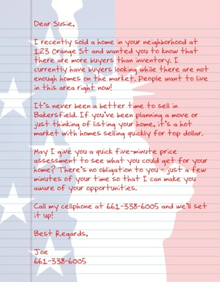Patriot Letter USA AGT 1