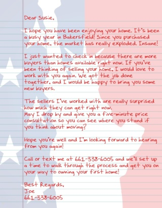Patriot Letter USA AGT 3