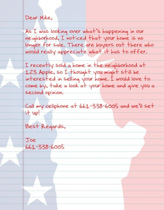 Patriot Letter USA AGT 5